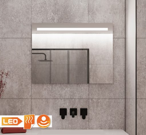 Badkamer spiegel met led strip