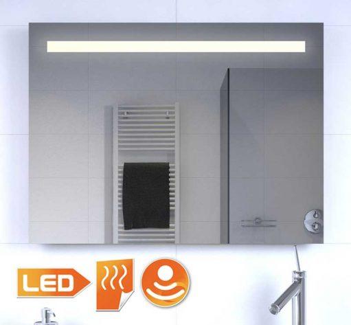 Badkamer LED spiegel met verwarming en sensor 80x60 cm