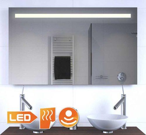 Badkamer spiegel met verlichting, spiegel verwarming en sensor met dimfunctie