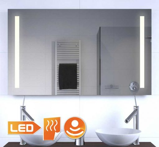Led spiegel met verwarming en sensor