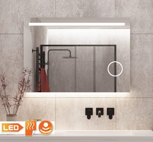 Fraaie badkamer LED spiegel met ingebouwde make-up spiegel en verwarming