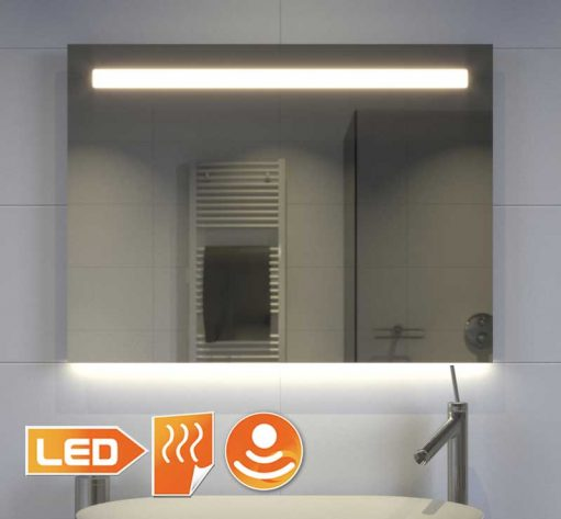 80 cm brede spiegel met directe en indirecte verlichting