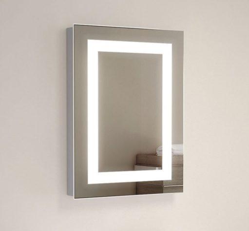 Fraaie kleine toilet badkamer spiegel met design verlichting