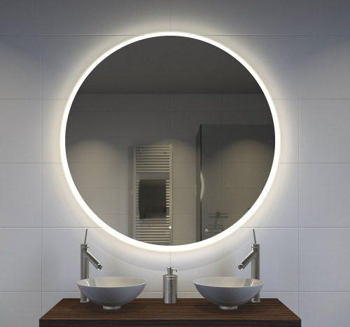 Stijlvolle 100 cm ronde badkamer spiegel met verlichting, verwarming en touch sensor schakelaar