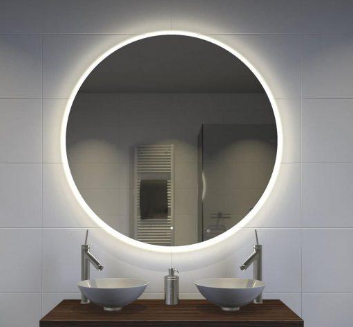 120 cm ronde badkamer spiegel met verlichting en verwarming