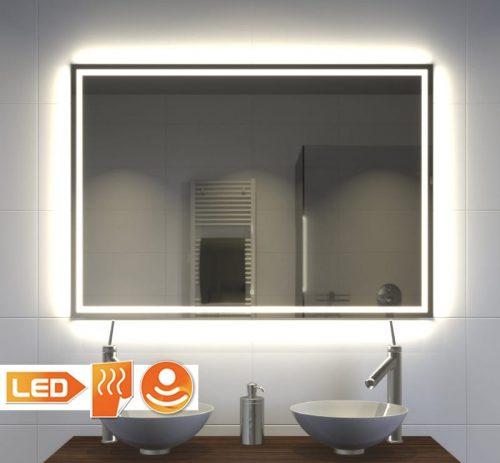 Moderne LED spiegel met spiegelverwarming en touch sensor met dimfunctie