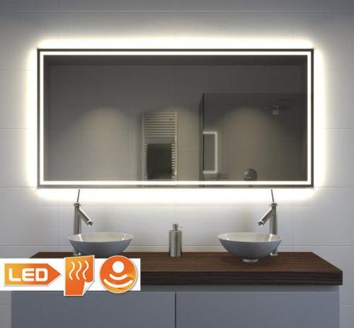 badkamerspiegel met veel verlichting