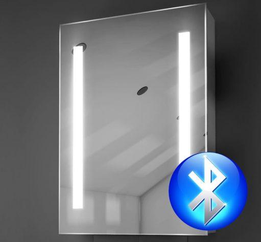 50 cm brede badkamer spiegelkast met verlichting, spiegelverwarming en muzieksysteem