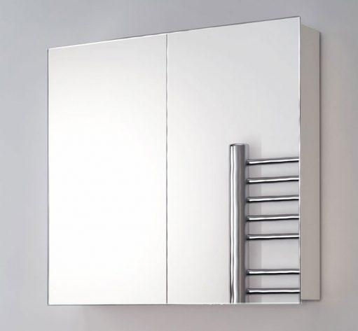 65 cm brede aluminium badkamer spiegelkast