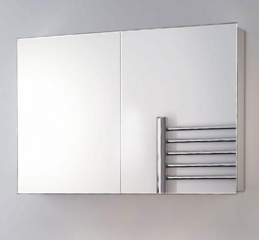 90 cm brede aluminium spiegelkast