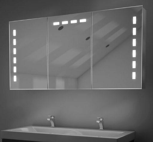 120 cm brede spiegelkast met 3 sodtclose deuren van 60 cm breed