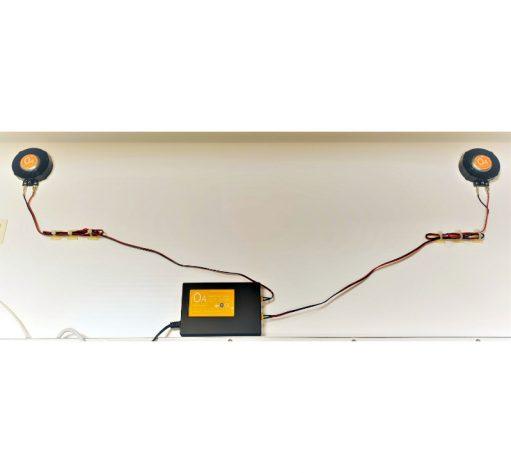 Optioneel bij te bestellen: OrangeAudio Bluetooth muzieksysteem met 2 hifi speakers